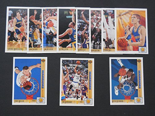 Golden State Warriors (4 Team Lot) 1991-92, 1992-93, 1993-94 Basketball Team Sets plus 1993 Safeway Regional Team Set (1991 Upper Deck 1st Yr.) (1992 Fleer Ultra) (1993 Topps) (1993 Safeway Regional)