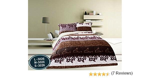 ForenTex - Edredón nórdico, (S-3026), 3 chocolates, cama de 90 y 105 cm, 180 x 240 cm, parte superior Ultra suave con tacto tipo peluche (triple de ...