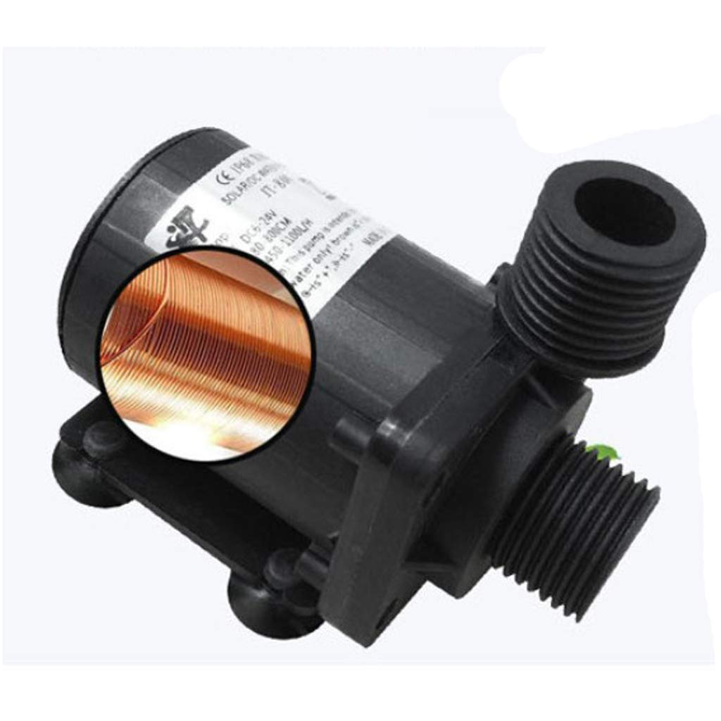 450-1100L//H 4W Submersible Water Pump 24Hours Dry Burning Ultra Pump Female Water Gardens /& Ponds Circulation Pumps