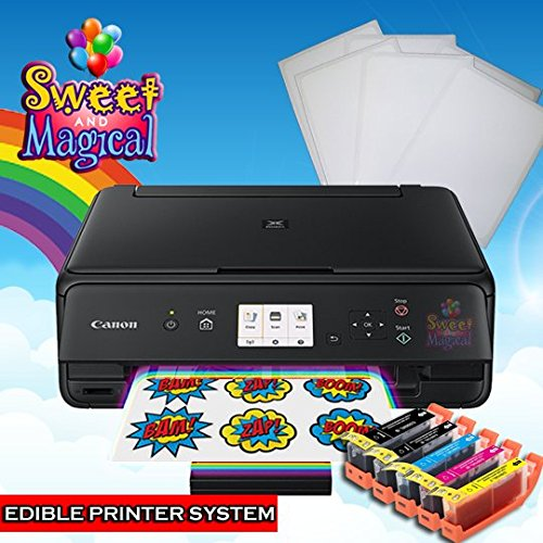 EDIBLE PRINTER BUNDLE-CANON WIRELESS,ALL IN ONE EDIBLE INK CARTRIDGES AND EDIBLE PAPER by SWEET AND MAGICAL (Image #2)