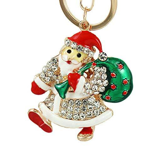 New Rhinestone CZ Handbag Christmas Charm Pendant Keychain Bag Keyring Key Chain (Style. - YSKZ-549)