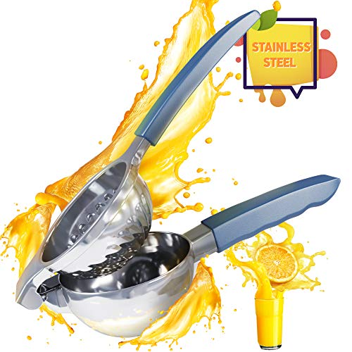 Premium Quality Lemon Squeezer Stainless Steel with Silicone Handles Lime Squeezer Lemon Juicer