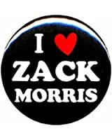 """Saved By the Bell """"I Love Zack Morris"""" 1.25"""" Pinback Button Pin Badge"""