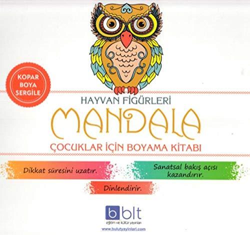 Hayvan Figurleri Mandala Cocuklar Icin Boyama Kitabi Kolektif