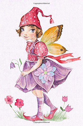 """Cute Fairy with Flower Wand 6 x 9 Narrow Ruled Lined Journal: 132 Pages, Softcover Notebook, 0.25"""" Lined Paper, No Margins PDF"""