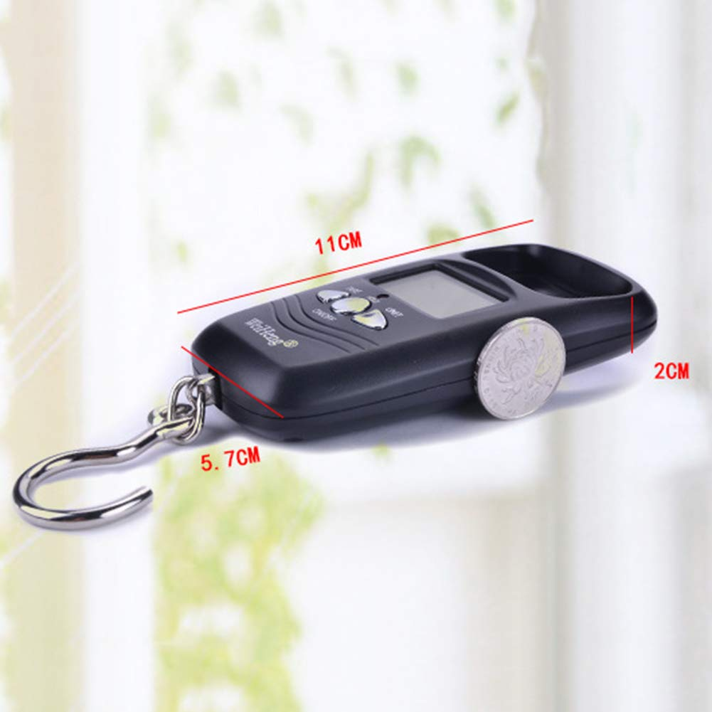 WskLinft Luggage Scale 50Kg//110lb Travel Mini LCD Digital Luggage Scale Hanging Hook Weight Balance Black
