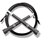 Plastic Crossfit Jumprope with Adjustable 11 Foot Cable , Carrying Bag , BONUS 4K eBook and Replacement Parts