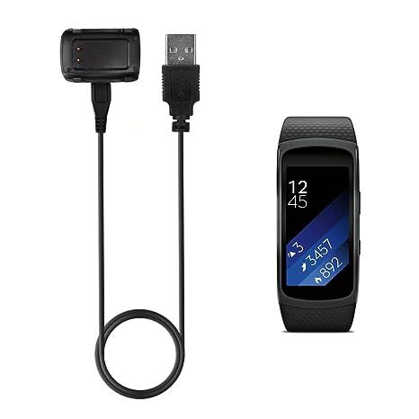 TUSITA Samsung Gear Fit 2 Cargador reemplazo USB Base de Cargador Cable de Carga Soporte de Cable para Samsung Gear FIT2