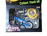 Techinal Finger Bikes Miniature Metal Toys Mini Extreme Sports Finger Bicycle Cool Boy Toy Creative Game Toy Set with Spare Tire, Lock and Tool (4-Pack/Set)