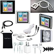 DigitalsOnDemand ® 14-Item Accessory Bundle for Apple iPod Nano 6th Gen Generation 8GB 16GB (Not Compatible with New iPod Nano 7th Gen)
