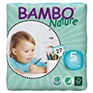 Bambo Nature Premium Baby Diapers, Junior, Size 5, 27 Count (Pack of 6) (One Month Supply)