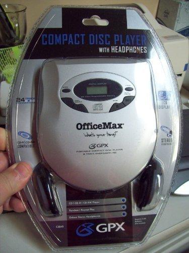 GPX C3849 Cd Player w/ Headphones -  GPX Inc., 4331016868