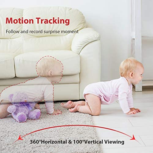 51sLhuZBltL. AC Baby Monitor, Victure 1080P HD Baby Monitor with Camera, Smart Motion Tracking and Sound Detection, 2.4G WiFi Home Security Camera Indoor IP Surveillance Pet Camera with Night Vision, 2-Way Audio    Product Description