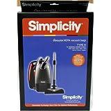 Simplicity Type H HEPA Vacuum Cleaner Bags