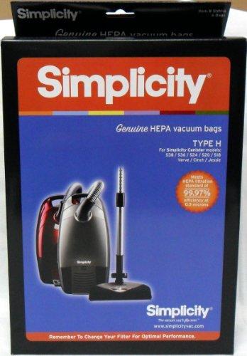 Simplicity Type H HEPA Vacuum Cleaner Bags (Hepa Vacuums Simplicity)