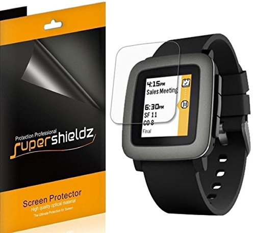 (6 Pack) Supershieldz for Pebble Time Screen Protector, Anti Glare and Anti Fingerprint (Matte) Shield