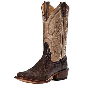 Rod Patrick Boot Makers Mens Mocha Bison Volcano Bone Goat Cowboy Boots 11 EE Brown/Tan