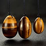 Natural Tiger Eye Crystal Yoni Egg Set of 3 Jade Egg Massage Stones for Women Kegel Exercise Pelvic Floor Muscles Vaginal Exercise Hidden Gems (tiger eye)