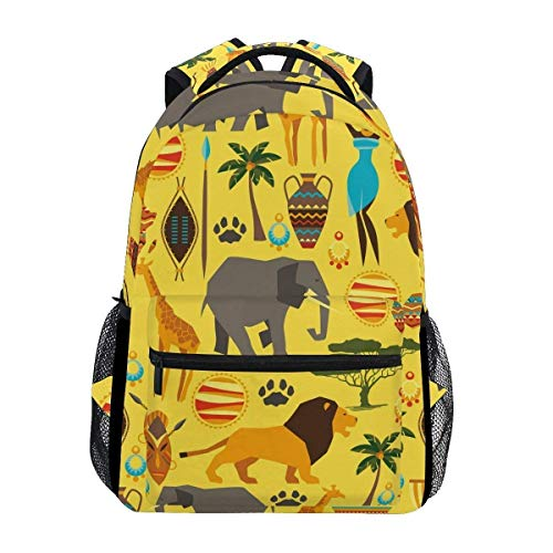 Africa Animal Elephant Backpack Girls College School Bag Women Casual Travel Daypack by Parlpam
