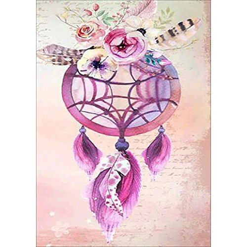 Grace Painter DIY 5D Diamond Painting Cross Stich Wind Bell Paint by Numbers for Adult Full Drill Rhinestone Diamond Embroidery Painting Home Decor Carvas Size11.8x15.7Inches
