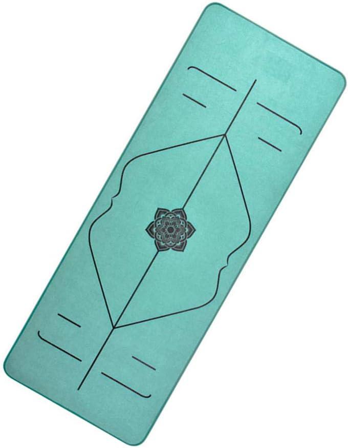 SEMPEIER Estera de Yoga Antideslizante con Tejido de Fibra y Material TPE Green 6 mm de Grosor para Ejercicios en casa Pilates Fitness Gym Entrenamiento Deportivo