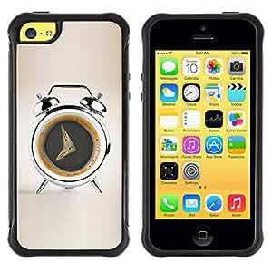 Suave TPU Caso Carcasa de Caucho Funda para Apple Iphone 5C / Coffee Alarm Funny / STRONG