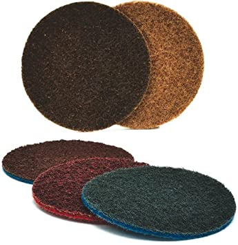 Brown Pack of 25 Arc Abrasives 62010 Grade A CRS Surface Conditioning Velcro Discs 4-Inch Diameter