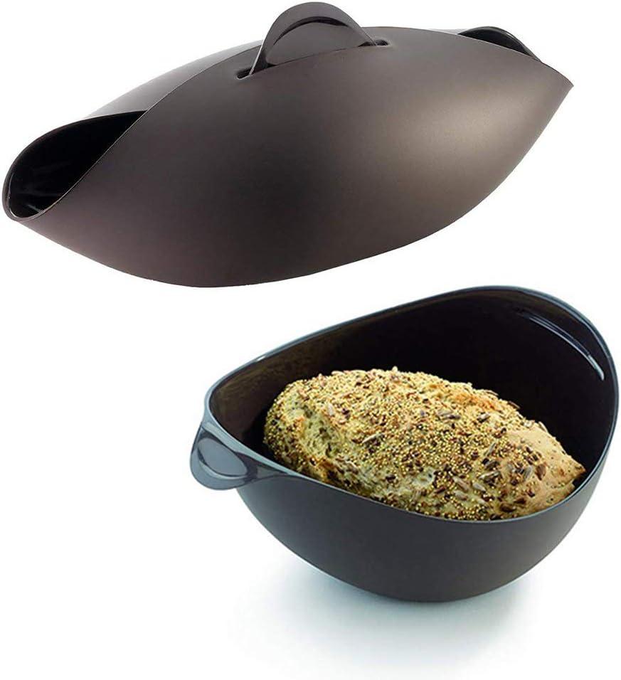 qingqingR Silikon-Brotbackmaschine Silikon-Dampfgarer Brotbackform K/üchenbackzubeh/ör