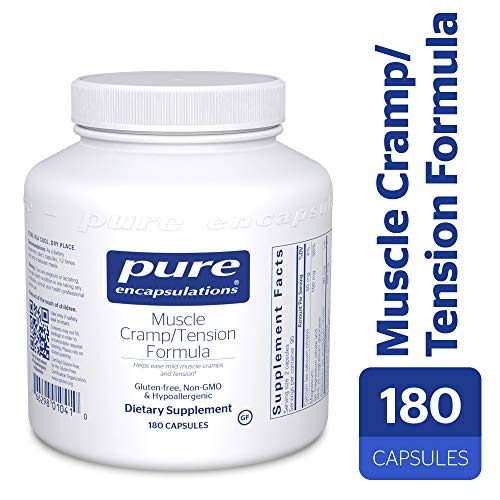 Pure Encapsulations - Muscle Cramp/Tension Formula - Hypoallergenic Supplement to Reduce Occasional Muscle Cramps/Tension and Promote Relaxation* - 180 Capsules (Best Magnesium For Muscle Cramps)