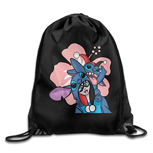 Costume Pelekai Nani (Harley Quinn Stitch Travel Shoulder Bags Drawstring)
