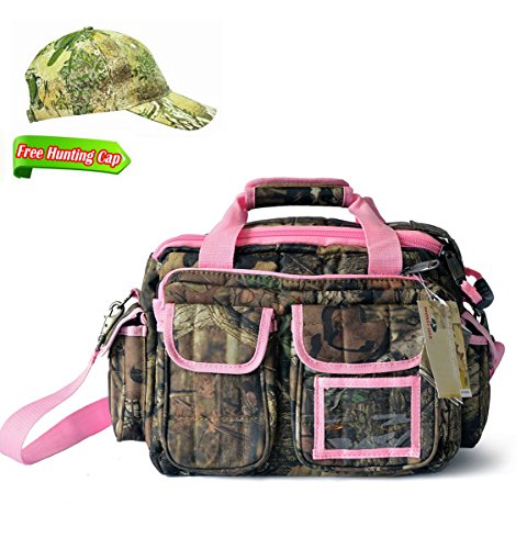 Explorer Pink Mossy Oak Hunting Camo Padded Deluxe Tactical Range Gear Bag Shooting Ammo Range Rangemaster Gear Bag 12