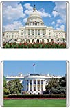 united states plastic puzzle - Minipix Puzzles - Bundle of 2 Puzzles - United States Capitol & The White House