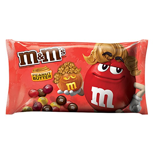 M&M'S Fall Harvest Blend Peanut Butter Chocolate Halloween Candy 10.2-Ounce Bag