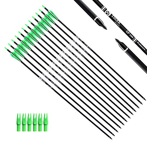 Tiger Archery 30Inch Carbon Arrow Practice Hunting Arrows with Removable