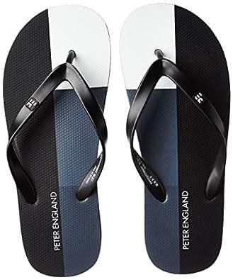 Peter England Men's Grey Flip Flops Thong Sandals - 10 UK/India (44EU)