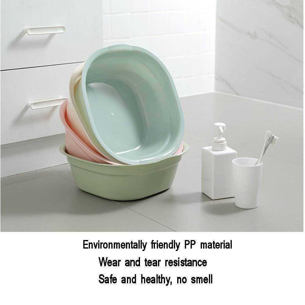 Piccolo Lavabo da 3 Pezzi Verde Spugna Lavabo per Neonati Colore : Beige per Lavello per Casa 4 Colori GYL Bacino Pieghevole XSJZ Bacinella di Plastica