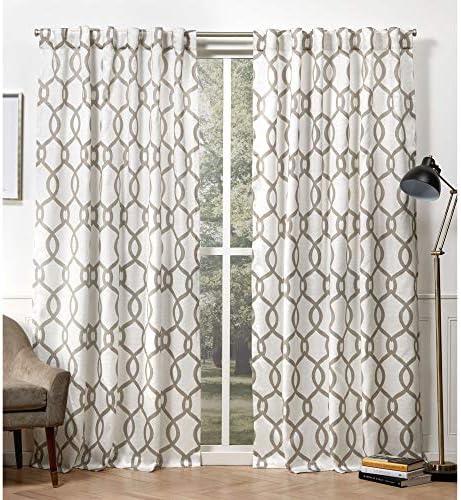 Exclusive Home Curtains EH8407-04 2-84H Kochi Linen Blend Hidden Tab Top Curtain Panel Pair