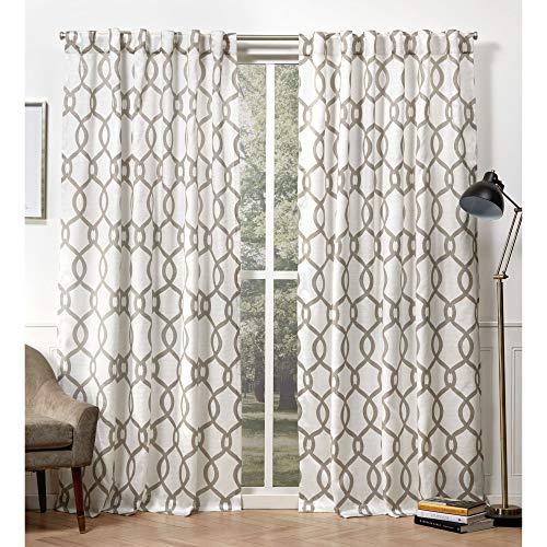 Exclusive Home Curtains Kochi Hidden Tab Top Curtain Panel, 54x96, Natural, 2 Panels ()