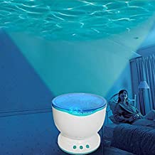 niceEshop(TM) Ocean Wave Night Light Projector and Music Player for Kids, USB / Battery Operated Blue Soothering LED Night Lamp for Children(blue&white)