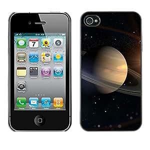 [Neutron-Star] Snap-on Series Teléfono Carcasa Funda Case Caso para iPhone 4 / 4S [Saturno Anillos Espacio Universo Cosmos Estrellas Solar]