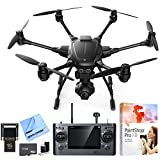 Yuneec Typhoon H RTF Hexacopter Drone w/ CGO3+ 4K Camera Video Recorder Bundle includes Drone, 16GB Flash Drive, 64GB microSD Memory Card, Cleaning Kit, Corel PaintShop Pro X8 and Beach Camera Cloth