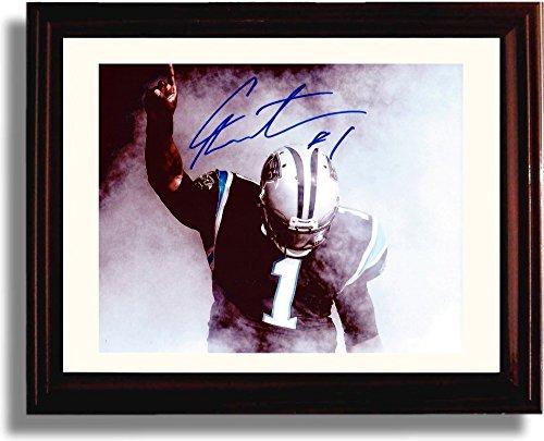 Framed Cam Newton #1 Autograph Replica Print