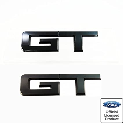 Mustang Gt Rear Emblem Gloss Black Ford Officially Licensed