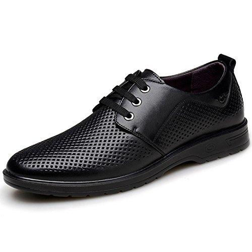 Zapatos Verano De Sandalias De black Marea Hombres Cuero Transpirables De YXLONG De Huecos Los Zapatos La Negocios Hombres Cuero De xgqcwwEXpt