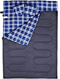 Cheap BESTEAM Double Sleeping Bag for Backpacking, Hiking, Family Camping, Traveling. Queen Size XL for Truck, Tent, Sleeping Pad. 2 Person Waterproof Sleeping Bag for Adults or Teens. 3 Seasons!