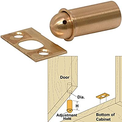 """Platte River 141740, Hardware, Locks And Latches, Ball & Bullet Catches, Adjustable Bullet Catch 10mm Diameter X 5/8""""l, 4 Each"""