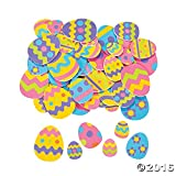 500 Colorful EASTER EGG FOAM STICKER Shapes/ARTS & Crafts/SCRAPBOOKING Supplies/SELF ADHESIVE/HOLIDAY ACTIVITY