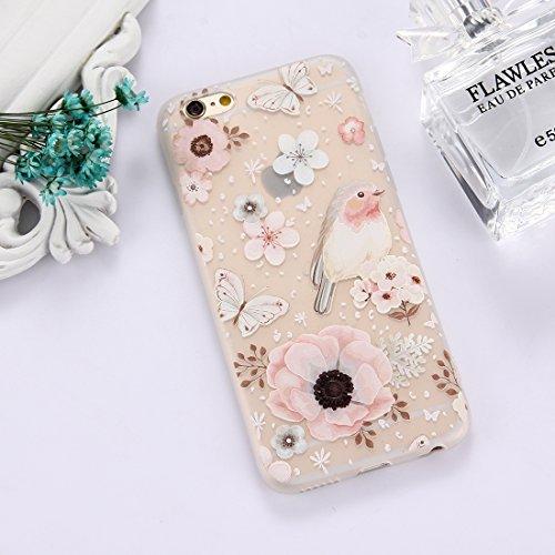 Phone Case & Hülle Für iPhone 6 & 6s TPU bereifte prägeartige Tulpe-Mädchen-Muster-schützende Fall-rückseitige Abdeckung ( Size : Ip6g5303r )