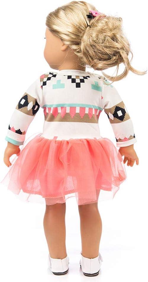 HUHU833 Cute Yarn Dress For 18 inch Fashion American Girl Doll- Orange Not Include Dolls