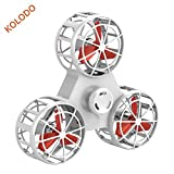 Kolodo Flying Spinner, Finger Fidget Spinner - Anti-Anxiety ADHD Relieving Reducer, USB Rechargable,Best Interactive Family Toys Games Kids Adults (White)